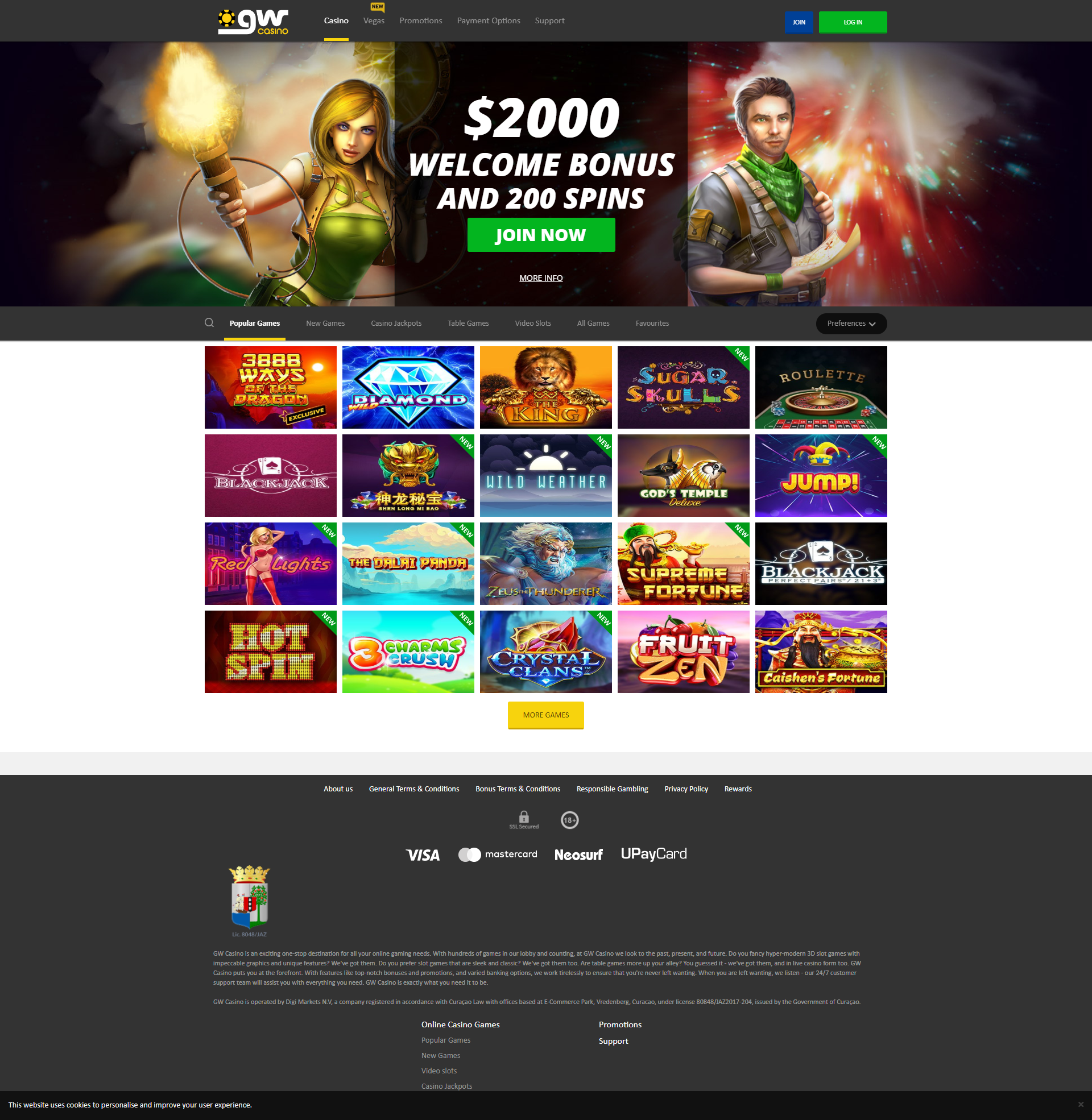 GW Gaming Casino Software Review